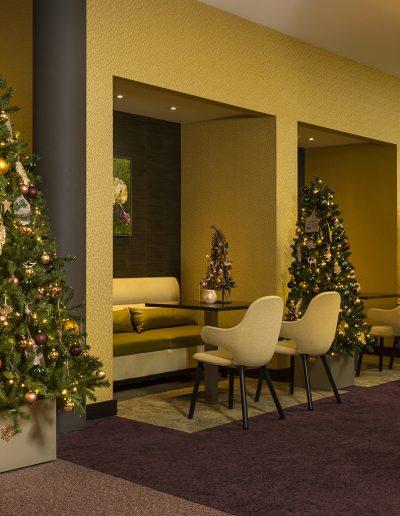 kerstdecoraties huren Hotel Riddekerk kerstsfeer