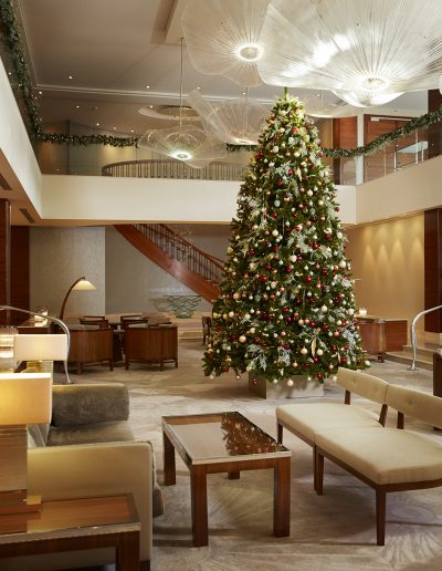 Kerstsfeer in hotel