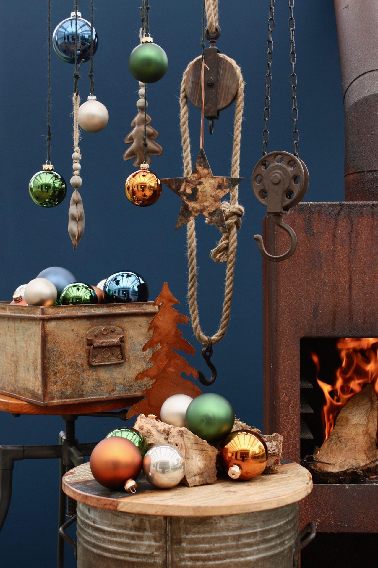 Robuust stijlconcept kerstdecoratie