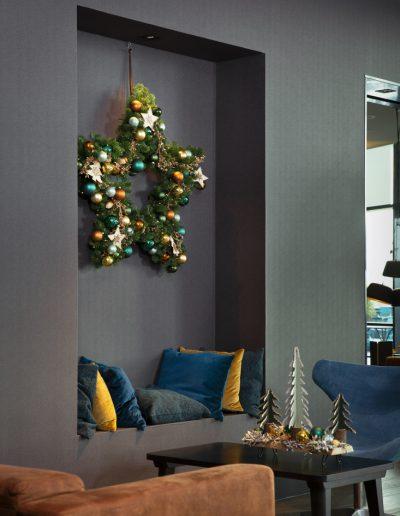 Kerst in Stijl kerstkrans hotel