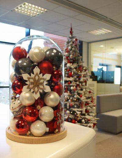 Kerstdeoraties huren kantoor Dansk Jul