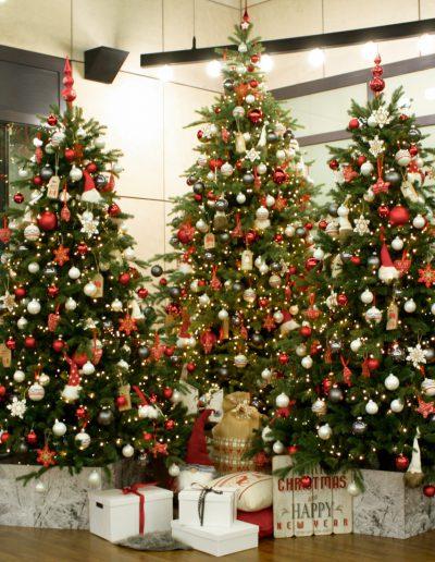 kerstbomen groep kerstversiering verhuur