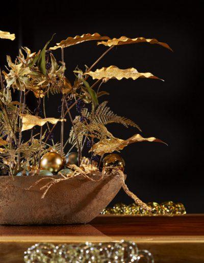 KerstinStijl Kerststuk Baliestuk Goud